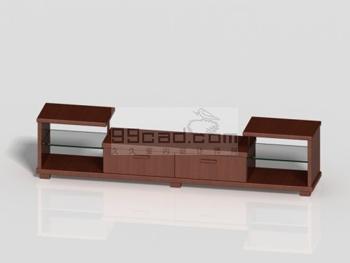 Simple wooden TV cabinet 3D Model