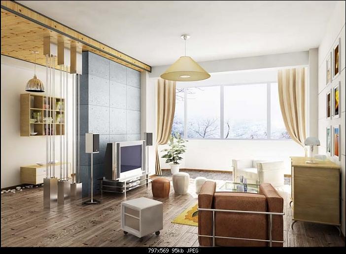 Simplism Living Room 3Ds Max Model