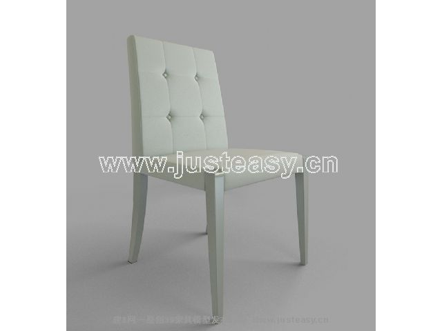 Single blue armchair 3D Model