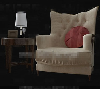 Single comfortable and stylish sofa 3D Model