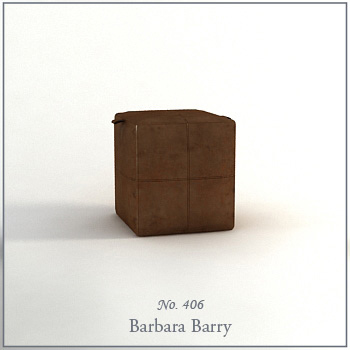 Single fashion brown sofa 3D Model