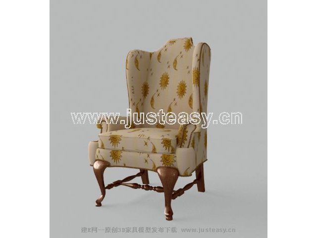 Single high-back sofa 3D Model