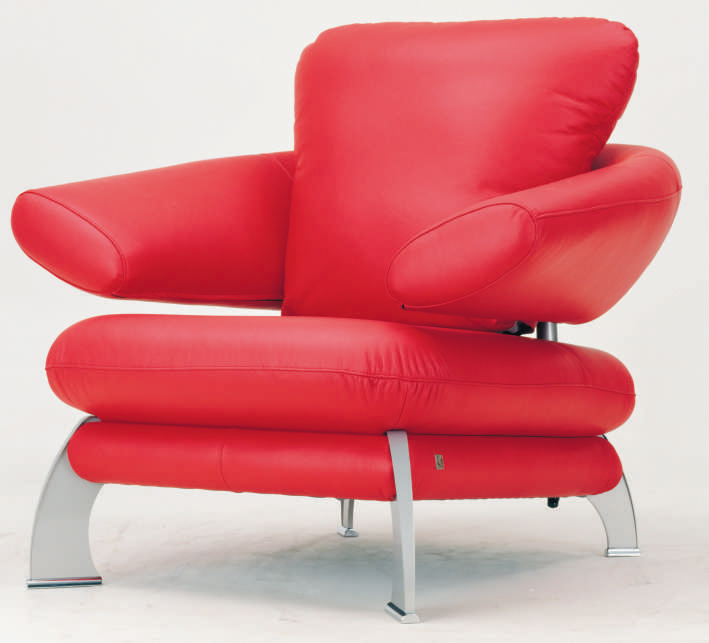Single red back sofa 3D character models (including materials)