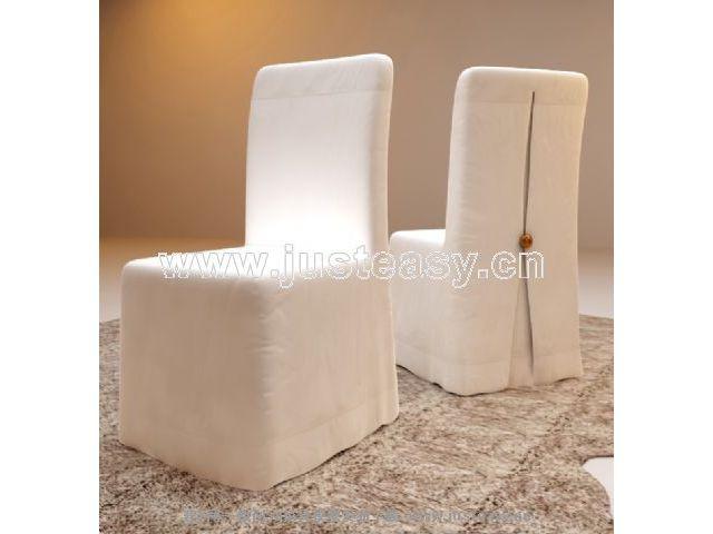 Single sofa chair restaurant 3D Model