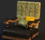 Single sofa cortex 3D Model