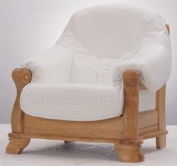 Single white dermal sofa wood bottom 3D models