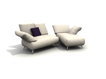 Sitting or lying sofa combination 3D Model