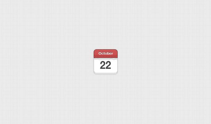 Small, Hand Stitched Calendar PSD
