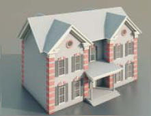 Small Villas and Construction-68 3D Model