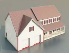 Small Villas with A garage and buildings-69 3D Model