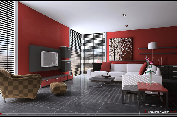 Smudge fashion living room model 3D Model