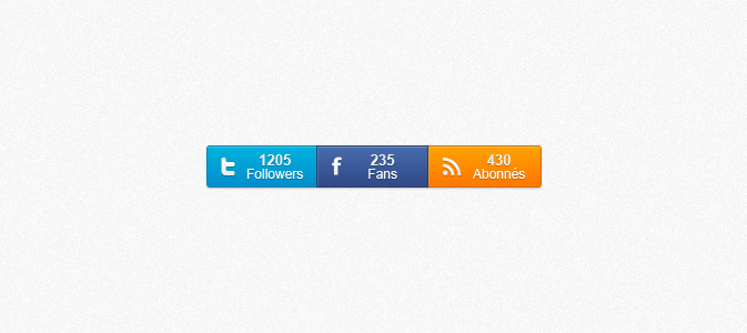 Social Counters PSD