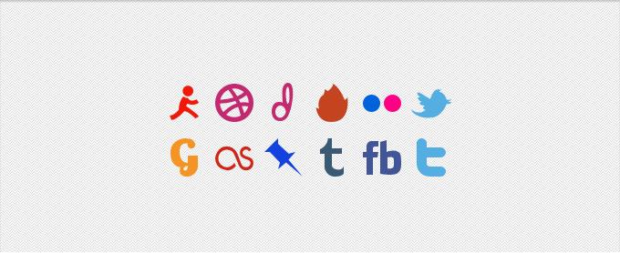 Social Media Glyphs PSD