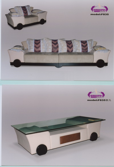 Sofa and coffee table refined 3D model of business
