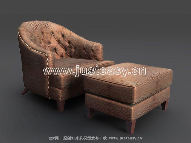 Sofa combination of modern Chinese 3D Model