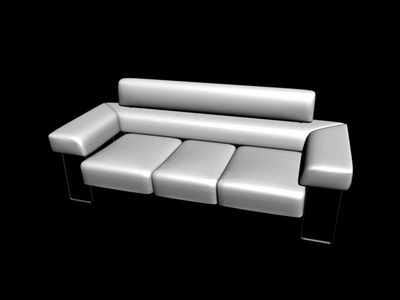 Sofa with maps 3D Model