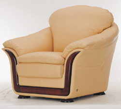 Soft sofa cloth art yellow single 3D models