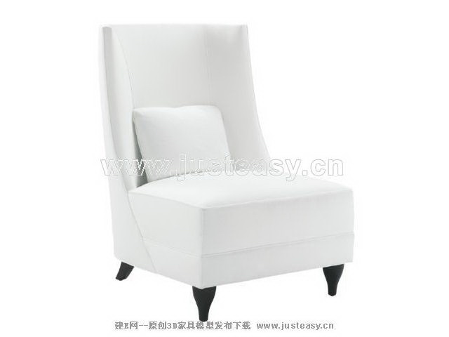 Soft white sofa 3D Model