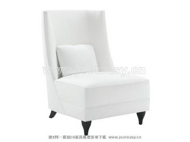 Soft white sofa 3D Model
