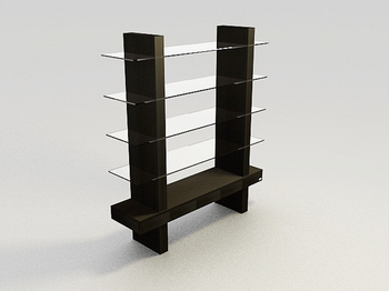 Solid wood display cabinet glass display showcase practical 3D Models