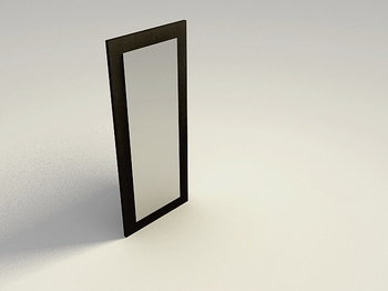 Solid wood door glass door high-end 3D models fashion