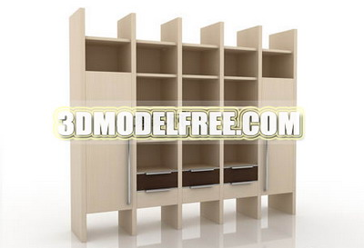 Solid wood wardrobe cabinets bedside lockers TV cabinet 3D Model