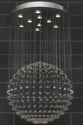 Spherical bead curtain pendant lamp 3D Model