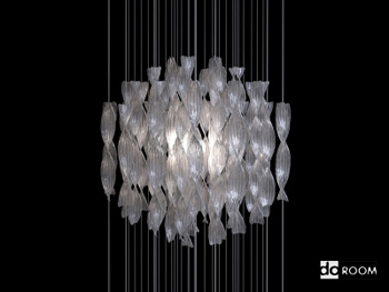 Spherical chandelier of modern style 3D Model