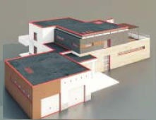 Square buildings / Architectural Model-35 3D Model