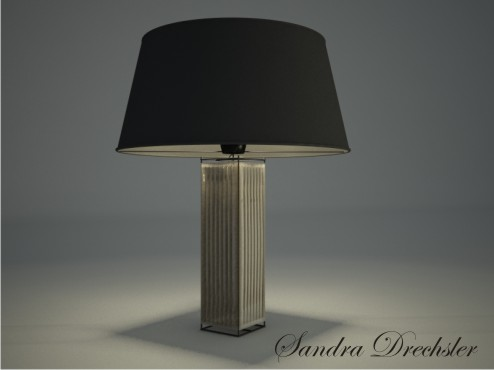 Square table lamp 3D models