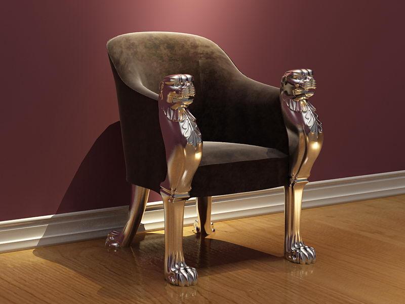 Steller��s sofa 3D model (including materials)