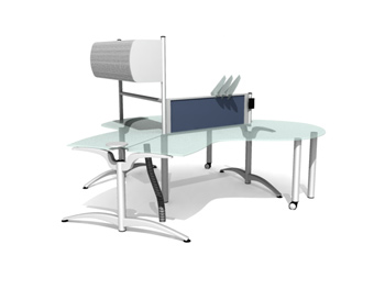 Stylish desk 3D Model