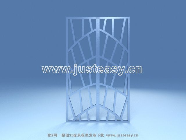Stylish furnishings screen 3D model single-page (including materials)