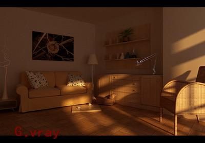 Sunset under the living room 3D models