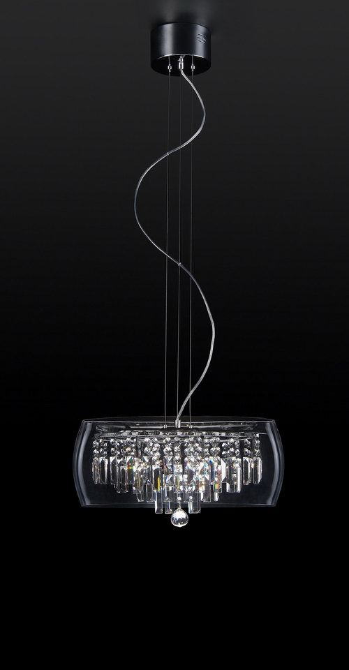Supermodern crystal chandelier 3D Model