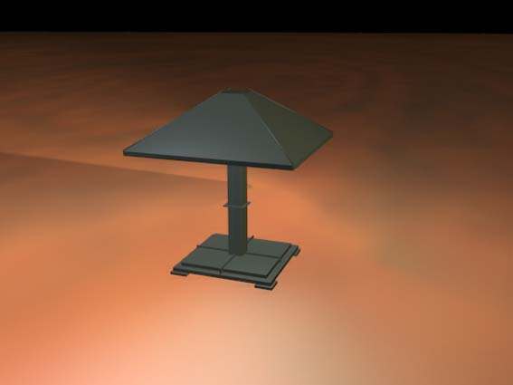 table lamp 022 3D Model