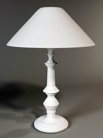 Table lamp and lamp lamp-post model of a 3D Model