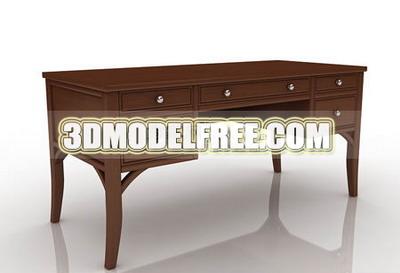 Table, office desk solid wood furniture, home life 3D models