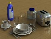 / Tableware 3D Model