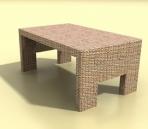 tea tables 1- rattan tea table 3D Model