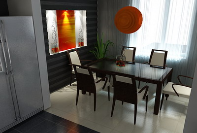 the cream interior space 029 – 5 setsIndoor space 3D Model