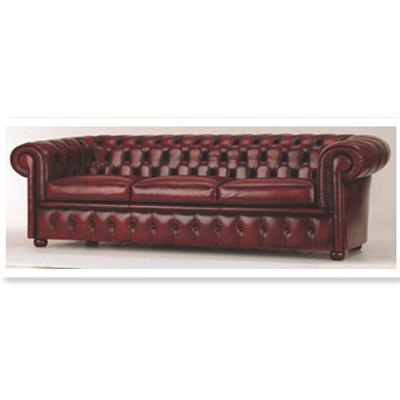 The dark red cortex three seats sofa 3D Model
