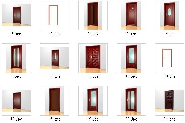 The door and door jamb 3D Model