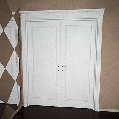 The door of the white European (including maps) 3D Model