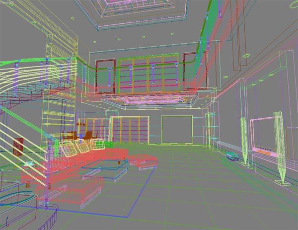 The Essence Interior space 027 – the living room 5 3D Model