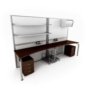 The fashion boutique Couple desk combination 3D Model