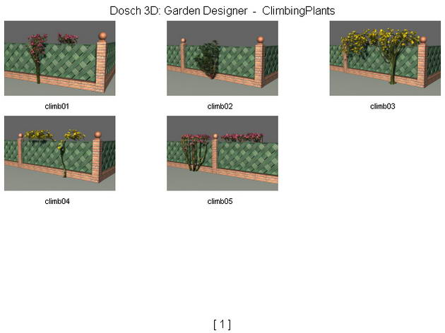 The fences / walls/ gardens 3D Model