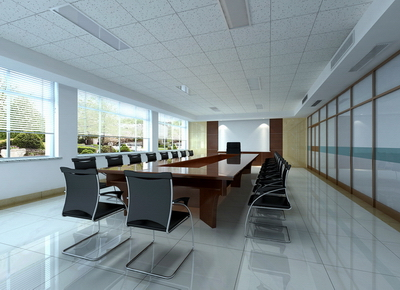 The large conference room model (with map) 3D Model
