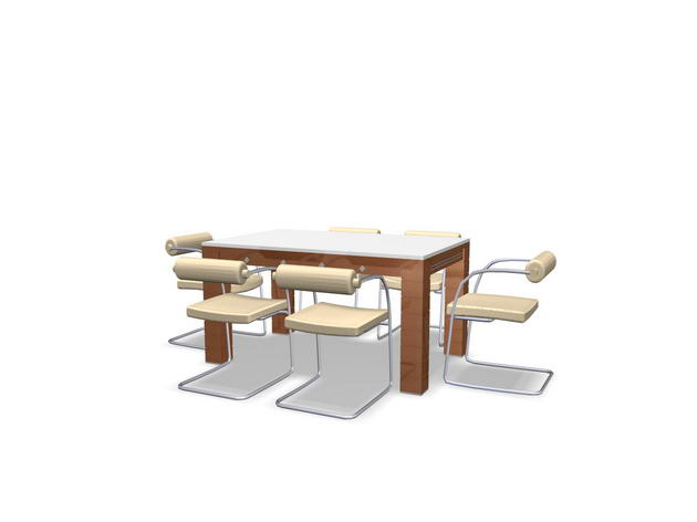 The new dining tables / furniture 3D Model