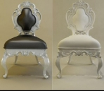The new model of European Baroque-style chairs 3D Model
